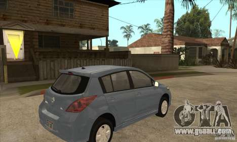 Nissan Tiida for GTA San Andreas right view