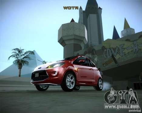 Ford Ka 2011 for GTA San Andreas back view
