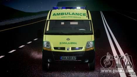 Renault Master 2007 Ambulance Scottish for GTA 4 bottom view