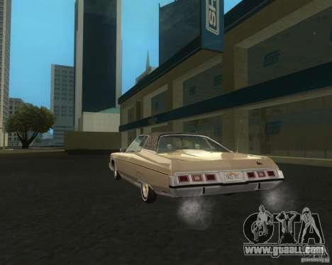 Chevrolet Caprice Classic lowrider for GTA San Andreas back left view