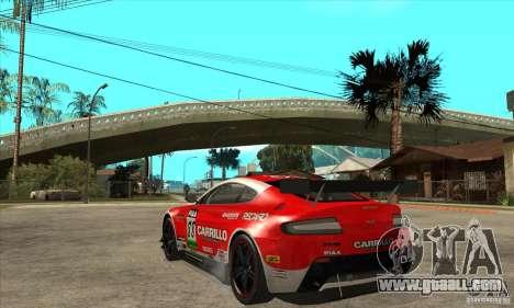 Aston Martin v8 Vantage N400 for GTA San Andreas inner view