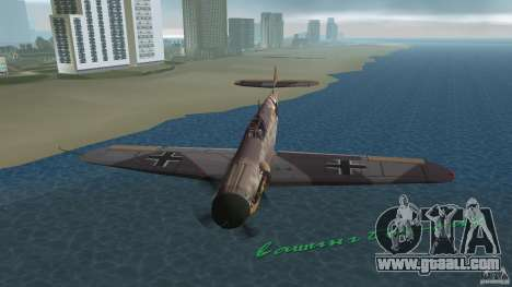 WW2 War Bomber for GTA Vice City side view