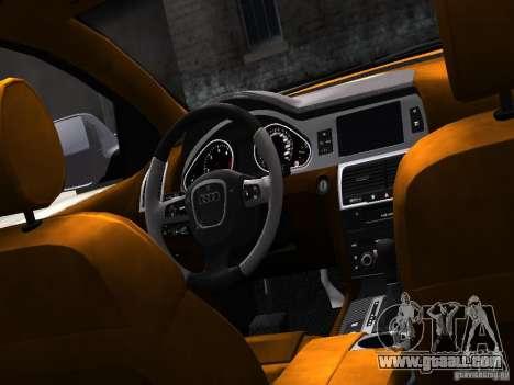 Audi Q7 V12 TDI Quattro Final for GTA 4 inner view