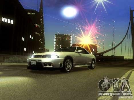 Nissan Skyline GTR BNR33 for GTA San Andreas left view