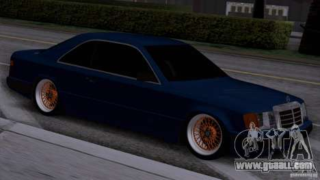 Mercedes-Benz W124 Low Gangster for GTA San Andreas back left view