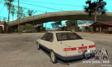 Alfa Romeo 164 for GTA San Andreas upper view