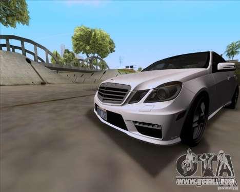 Mercedes-Benz E63 AMG V12 TT Black Revel for GTA San Andreas left view
