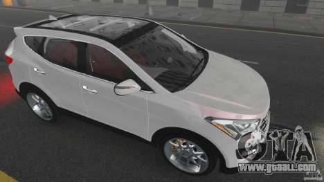 Hyundai Santa Fe Sport 2013 for GTA 4 bottom view