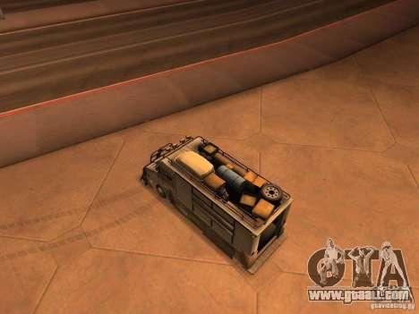 Monster Van for GTA San Andreas back left view