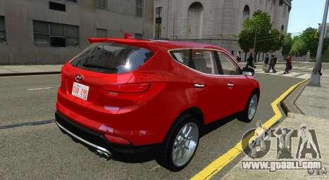 Hyundai Santa Fe Sport 2013 for GTA 4 back left view