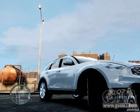Infiniti FX50 for GTA 4 right view