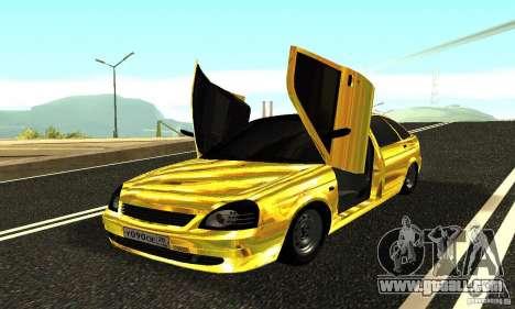 Lada Priora Gold for GTA San Andreas