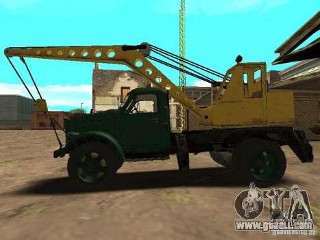 GAZ 51 mobile crane for GTA San Andreas left view