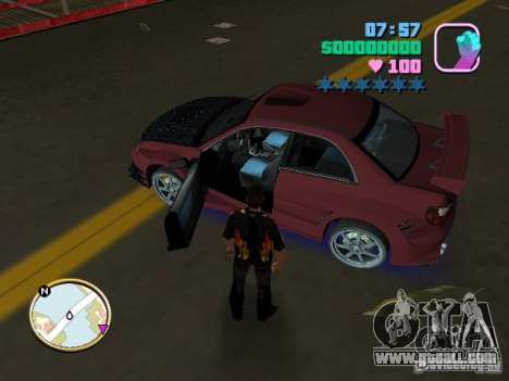 Subaru Impreza WRX STI for GTA Vice City back left view