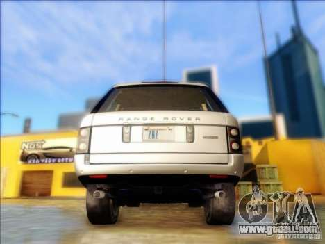 Land-Rover Range Rover Supercharged Series III for GTA San Andreas back left view