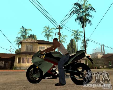 Yamaha R1 2010 for GTA San Andreas left view