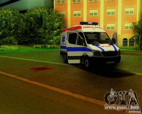 Mercedes-Benz Sprinter Baku Ambulans for GTA San Andreas side view