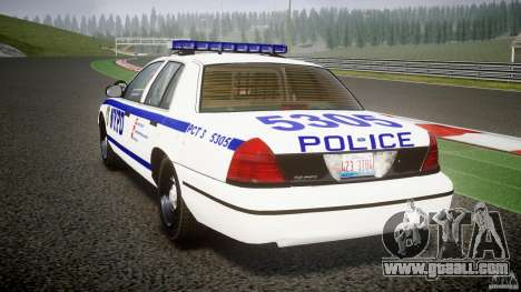 Ford Crown Victoria NYPD [ELS] for GTA 4 back left view