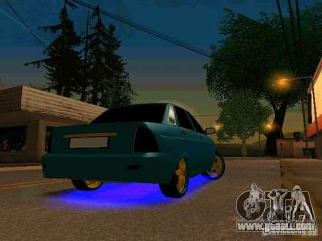 LADA 2170 Priora Gold Edition for GTA San Andreas left view
