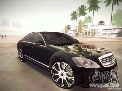 Mercedes-Benz S 500 Brabus Tuning for GTA San Andreas right view