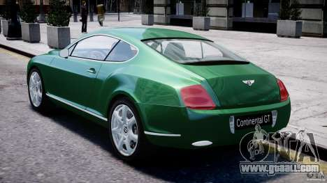 Bentley Continental GT for GTA 4 right view