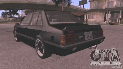 Mitsubishi Lancer EX Turbo 1983 for GTA San Andreas right view