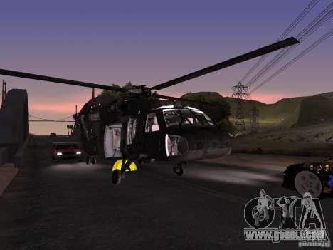 The helicopter from CoD 4 MW for GTA San Andreas side view