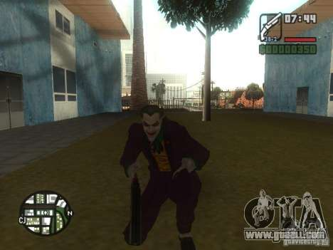 HQ Joker Skin for GTA San Andreas third screenshot