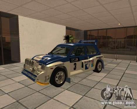 MG Metro 6M4 Group B for GTA San Andreas