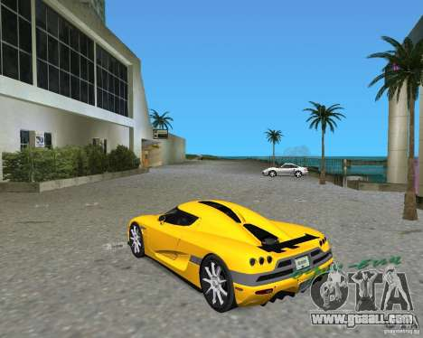 Koenigsegg CCX for GTA Vice City left view