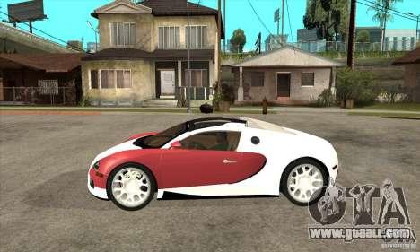 Bugatti Veyron Grand Sport for GTA San Andreas left view