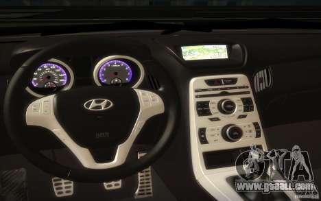 Hyundai Genesis 3.8 Coupe for GTA San Andreas inner view