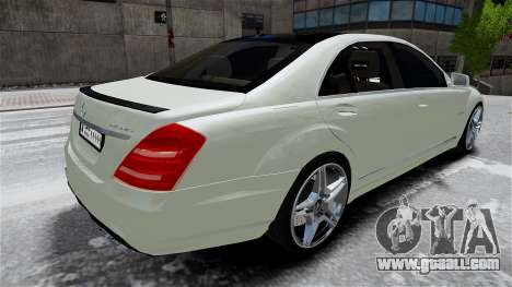 Mercedes-Benz S65 AMG LONG 2010 for GTA 4 inner view
