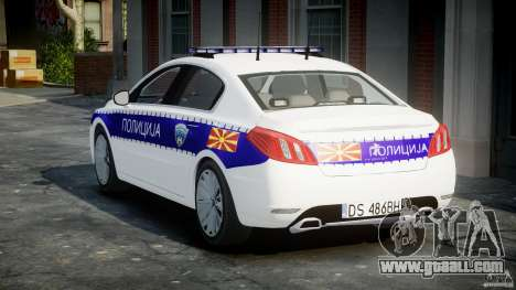 Peugeot 508 Macedonian Police [ELS] for GTA 4 side view