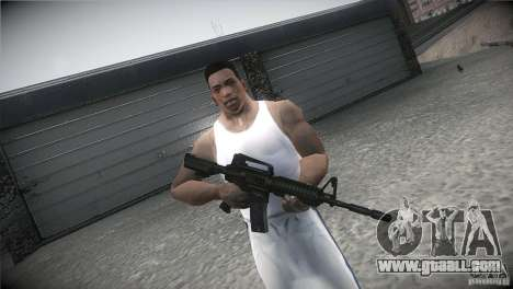 M4A1 for GTA San Andreas forth screenshot