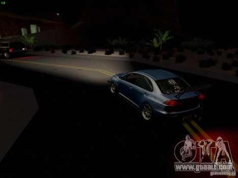 Mitsubishi Lancer Evolution X Time Attack for GTA San Andreas bottom view