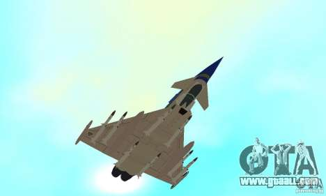 Eurofighter 2010 for GTA San Andreas side view
