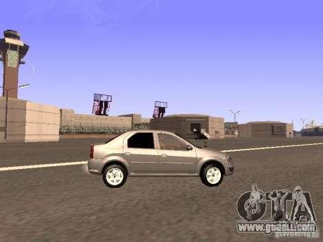 Renault Logan for GTA San Andreas left view