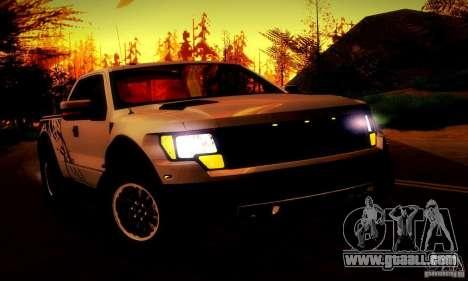 Ford F-150 SVT Raptor V1.0 for GTA San Andreas bottom view