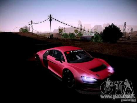 Audi R8 LMS v2.0 for GTA San Andreas inner view