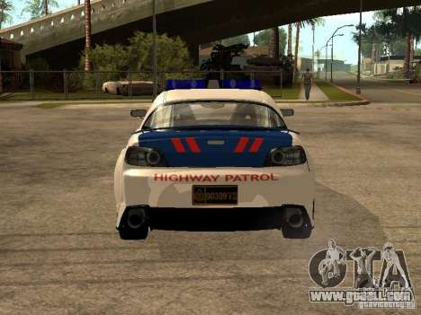 Mazda RX-8 Police for GTA San Andreas back left view
