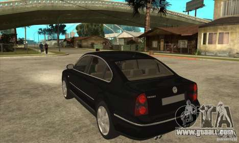 Volkswagen Passat B5+ for GTA San Andreas back left view
