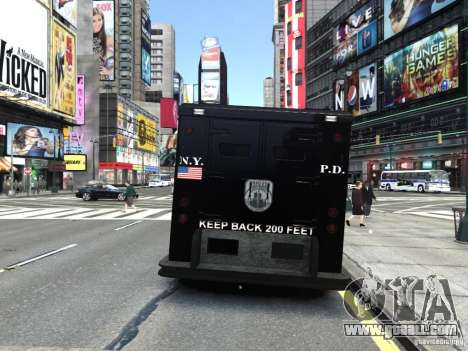 SWAT - NYPD Enforcer V1.1 for GTA 4 back left view