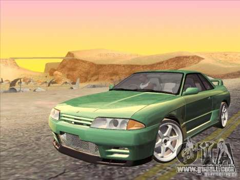Nissan Skyline GT-R 32 1993 for GTA San Andreas upper view