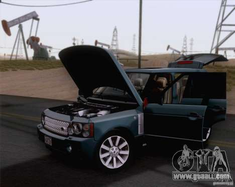 Land Rover Range Rover Supercharged 2008 for GTA San Andreas back left view