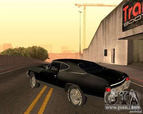 Chevrolet Chevelle 1968 for GTA San Andreas inner view