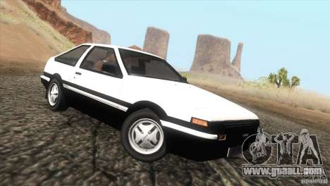 Toyota Sprinter Trueno AE86 GT-Apex for GTA San Andreas left view