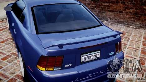Ford Mustang SVT Cobra v1.0 for GTA 4 bottom view