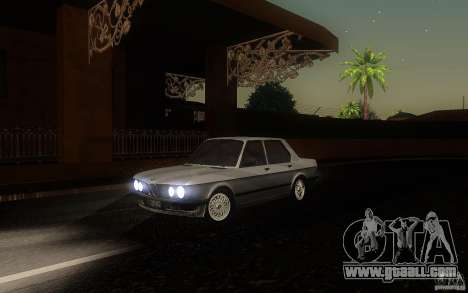 BMW E28 525e ShadowLine Stock for GTA San Andreas left view