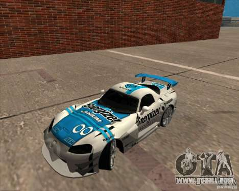 Dodge Viper Energizer for GTA San Andreas back left view